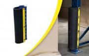 Protection pied pour rayonnage - Longueur : 550 mm - Écartement : 80 à 120 mm