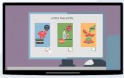 Écran affichage dynamique agence immobilière - Solution affichage dynamique pour agence immobilière