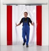 Porte souple industrielle PVC - Largeur lanières : 200, 300, 400 mm - Epaisseur : 2,3,4 mm