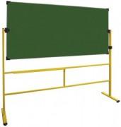 Tableau scolaire vert pivotant sur pieds - Certifié PEFC - Dim 100 x 200 cm - Surface : Acier émaillé - Magnétique