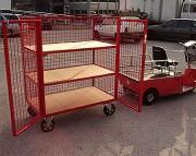 Chariot remorque grillagée à étagères - Capacité supportée : 2000 Kg