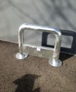 Barrière de sécurité industrielle - Dim. hors tout : 680x500 mm - ø tube 76.1 mm