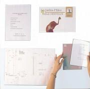 Porte d'affichage pvc rigide plexiglas - Format :  horizontal ou vertical - Fixation par double face