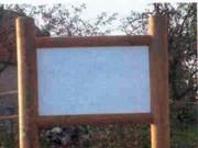 Panneaux affichage bois - Pin autoclave classe 4 - Dimensions (H x L) cm : 40 x 60