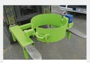 Retourneur de fûts pour chariot élévateur - Charge admissible 350 kg  -  Rotation 360°