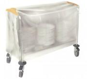 Housse pour chariot porte-assiettes - Matière :  PVC armé- Chariot 200 assiettes- Dim ( L x l  x H ) : 940 x 395 x 550 mm
