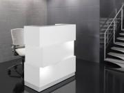 Comptoir de réception lumineux - Jeu de lumière sur le top supérieur et à la base