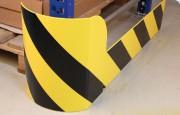 Protection pour rayonnage modulable - Matière : Acier - Longueur : 1230 mm - Hauteur : 400/200 mm