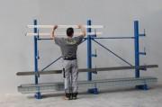 Stockage cantilever - Hauteur : Jusqu'à 3m - Charges légères