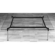Table basse transparente pour accueil