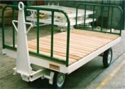 Remorque bagage à plateau tôle d'acier - Remorque à avant train pivotant,Charge maxi : 2 T