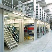 Plateforme sur rayonnages galvanisés - Profondeur : De 320 à 800 mm