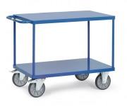 Chariot à 2 plateaux acier modulable