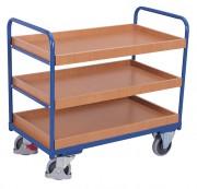 Chariot à étagères bas - Capacité charge : 250 Kg