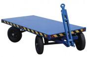 Chariot à 2 essieux directeurs - Remorque double essieux 4000 kg - dimensions (L x l x h ) : 200 x 100 x 60 cm