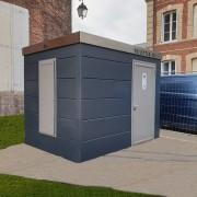 Toilette modulaire - Dimensions min : 2,15 m x 1,50 m – Dimensions max : 2,15m x 6m