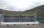 Barrière antichute dans benne déchetterie - Dédiée aux bennes à gravats et déchets verts fins