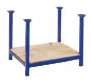 Rack de stockage à plancher bois