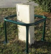 Protection d'arbre ou de candélabre - Hauteur (mm) : 600 - 1000 , largeur (mm) : 500
