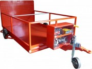 Remorque pour transport de conteneur déchets 770 litres - Dimensions : 4400 x 850 mm