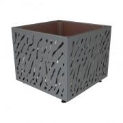 Bac à palmier monochrome - Matière : Acier - Dim. 790 x 790 x 790 mm - Poids : 100 kg