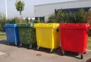 Conteneur poubelle 660 litres pour tri sélectif - Conteneur ordures en plastique PEHD résistant au gel/UV