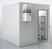 Kit Chambre froide positive - Groupe paroi -  rayonnage en L 4 niveaux H 1370 mm