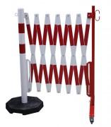Barrière extensible avec poteau