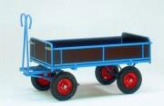 Remorque manuelle à ridelles - Capacité maximale supportée : 1250 kg