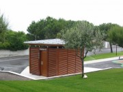 Toilettes exterieur Personnalisés à persienne - Toilettes Lacanau-dept 33