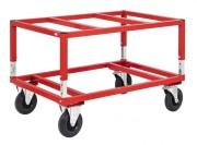 Chariot rehaussé à palettes - Capacité (Kg) : 800 - Pour palette 1200 x 800 mm