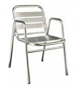 Chaise aluminium empilable