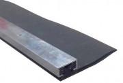 Joint pour bas de porte garage - Longueur : 2,5 - 5 ou 10 m - largeur : 64 mm - A visser