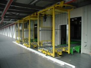 Monorail automoteurs pour manutention de palettes
