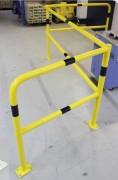 Barrière de sécurité industrielle Acier - Matière : Acier galvanisé - Diamètre : 48 mm