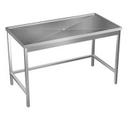 Table de débarrassage sur mesure en inox
