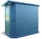 Toilette publique à toit à débordement - Autonome et raccordable -  Entièrement équipée