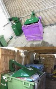 Compacteur tasseur pour conteneur - Tasseur de bac 660l à 1100l Divise par 3 le volume de vos déchets