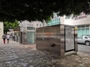 Cabine sanitaire publique automatique - Toilette automatique finition acier corten