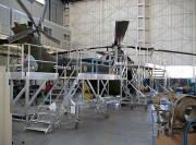 Passerelle de maintenance hélicoptère Puma