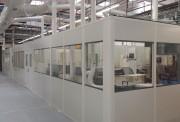 Cloison de protection vitrée amovible - cloison vitrée simple, pratique et rapide à installer