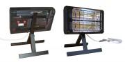 Radiateur mobile avec poignée et pied rabattable - Puissance de 2,5 KW
