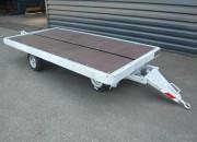 Remorque sans ridelle pour transport bagages vrac et fret aérien - Remorque sans ridelles à simple train pivotant