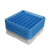 Casiers de lavage verres 49 compartiments - Dimensions  :  de 500 x 500 x 140 mm -  Matière : polypropylène recyclable