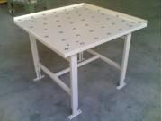 Table à billes de manutention - Piétements réglable +/-100 - Billes acier en quinconce