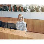 Paroi de bureau en plexiglass - Longueur : 600 à 900 mm