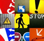 Pose panneau de signalisation extérieure