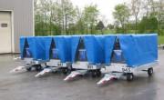 Remorque bagages vrac et fret aéroport - Remorque à simple train pivotant pour transport bagages