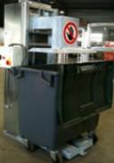 Tasseur déchets ménagers pour conteneur 1000 à 1100 litres - Force exercée sur le déchet : 0.5 DAN x cm²