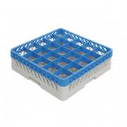 Casiers de lavage verres 25 compartiments - Dimensions :  de 500 x 500 x 140 mm   - Matière : polypropylène recyclable